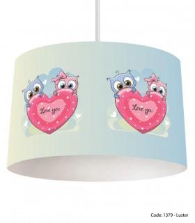 خرید لوستر سقفی قلبی کودکانه مدل LOVE YOU