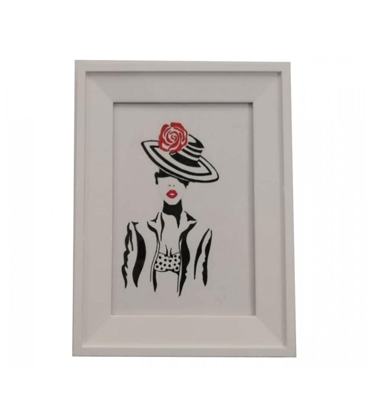 تابلو نقاشی دکوراتیو طرح Lady