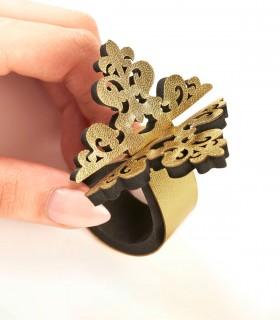 خرید ست حلقه دستمال طرح گل کد 201 شش عددی