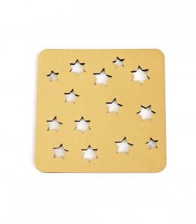عکس سرویس زیرلیوانی 2عددی مربعی ستاره کد 166