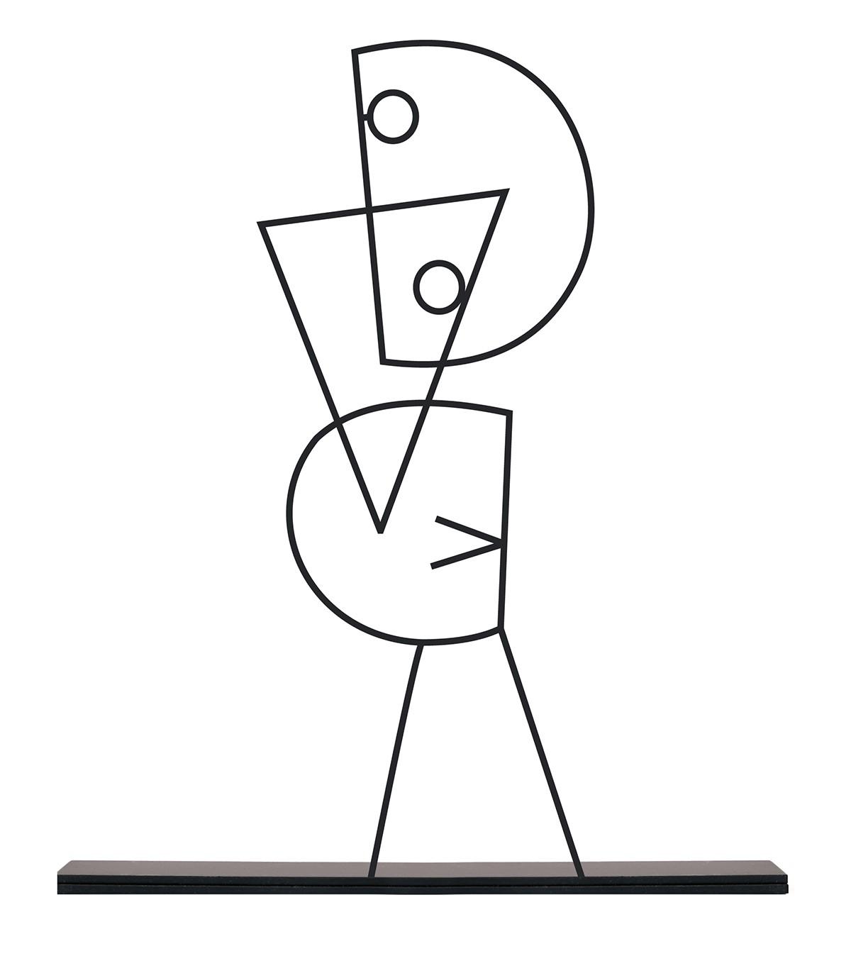 خرید انلاین مجسمه فلزی سبک مینیمال مدل ربات کد 7061