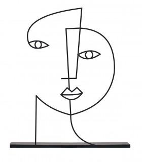 خرید مجسمه فلزی مینیمال مدل دلنواز کد 7081