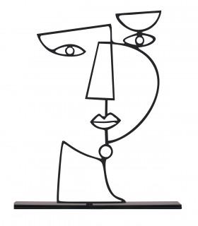 خرید مجسمه فلزی مینیمال مدل دارا کد 7082