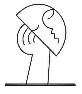 خرید مجسمه فلزی مینیمال مدل شوکت کد 7084