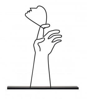 خرید مجسمه مینیمال فلزی مدل HAND کد 7086