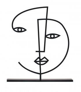 خرید مجسمه فلزی مینیمال مدل نرگس کد 7089