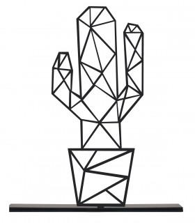 خرید مجسمه فلزی سبک مینیمال مدل کاکتوس 3 کد 7111
