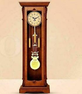 ساعت ایستاده چوبی طرح مورنا قهوه ای