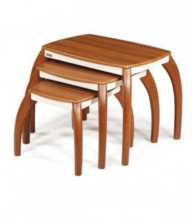خرید ست میز عسلی و میز وسط چوبی مدل 0059