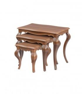 خرید میز عسلی سه عددی کلاسیک مدل 0080