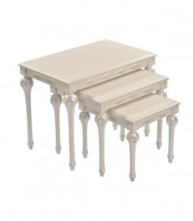 خرید انلاین ست میز عسلی و میز وسط پایه خراطی مدل 0081