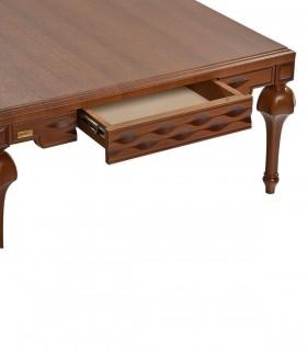 عکس ست میز عسلی و میز وسط پایه خراطی مدل 0081