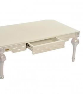 خرید اینترنتی ست میز عسلی و میز وسط پایه خراطی مدل 0081