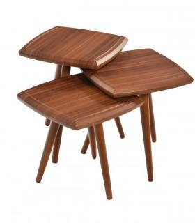 خرید میز عسلی سه عددی مربعی مدل 265
