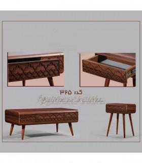 خرید میز تلویزیون چوبی اسلیمی کشودار مدل 325