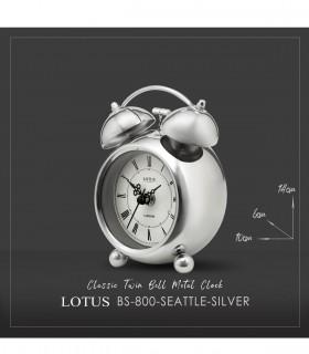 خرید انلاین ساعت رومیزی زنگ دار مدل SEATTLE SILVER