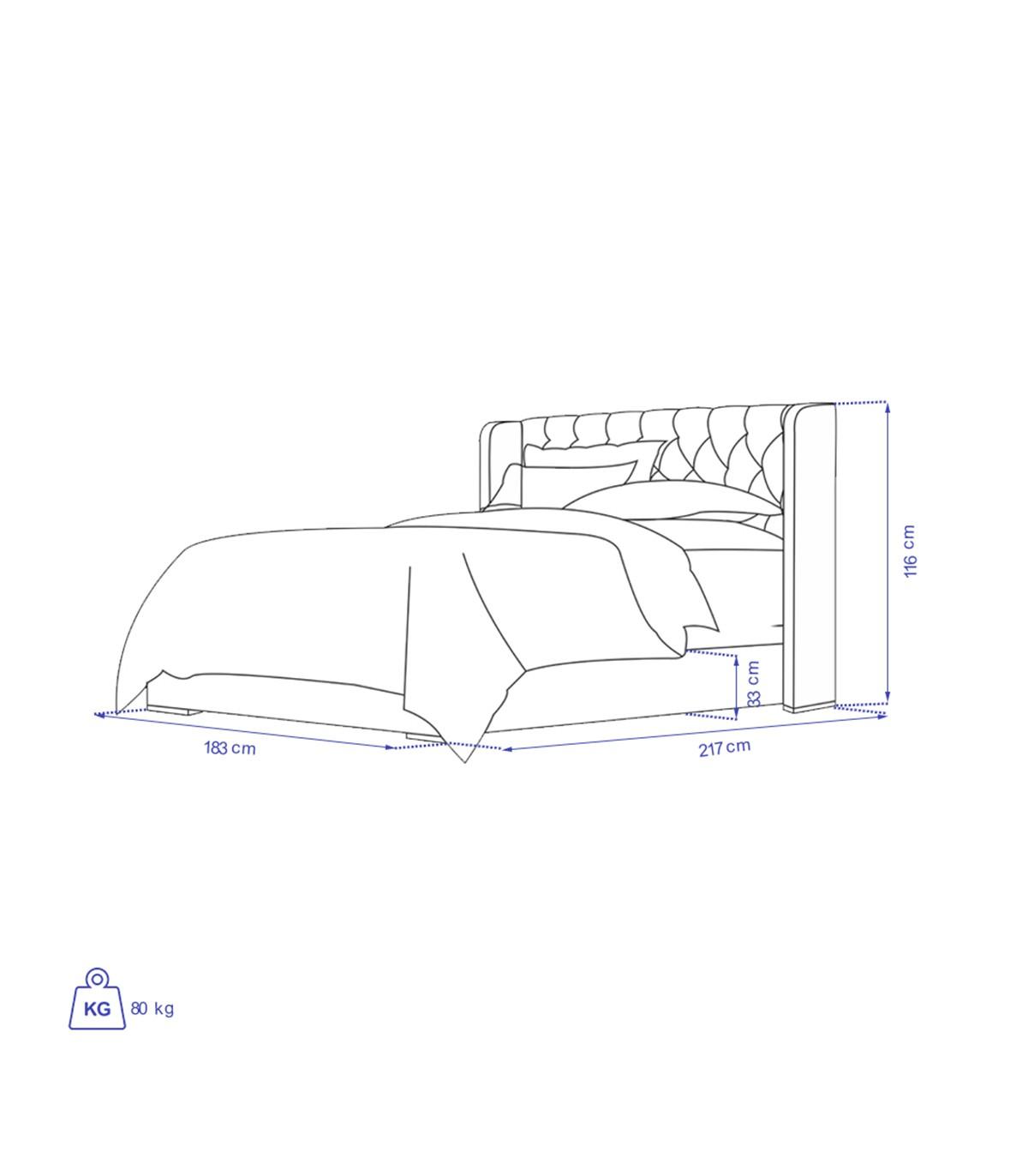 ابعاد سرویس خواب چوبی مدل VERTA
