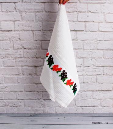 خرید آنلاین دستمال آشپزخانه نخی طرح زیتون