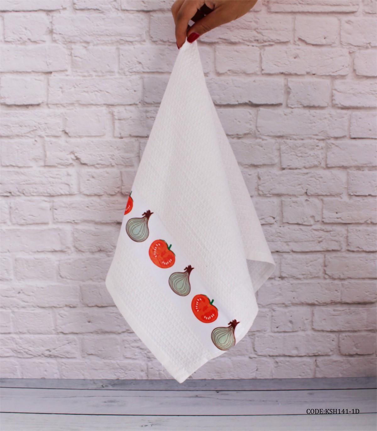 خرید آنلاین دستمال آشپزخانه عروس طرح پیاز و گوچه فرنگی