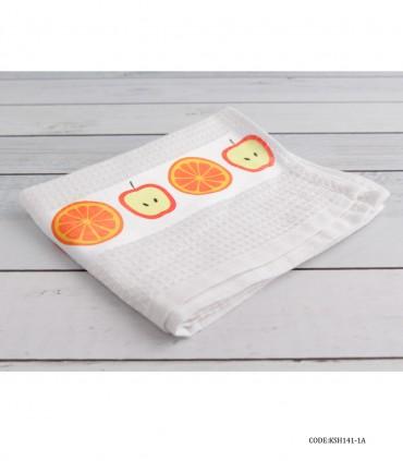 خرید دستمال آشپزخانه عروس طرح سیب و پرتقال