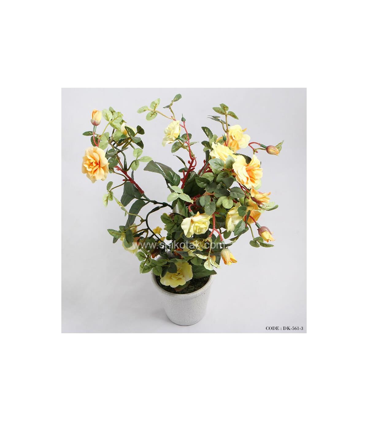 جدیدترین مدل گلدان بوته رز مصنوعی