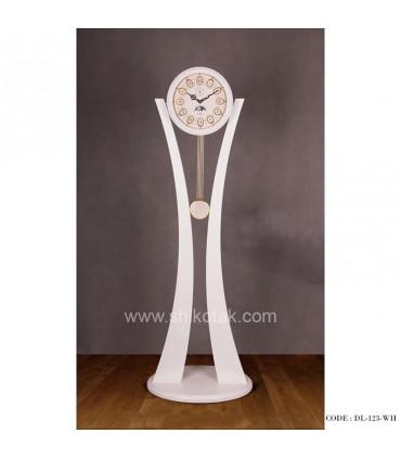 ساعت کنارسالنی سری 123 فلور سفید