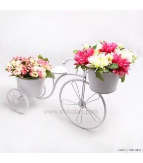 جا گلدانی فلزی طرح دوچرخه