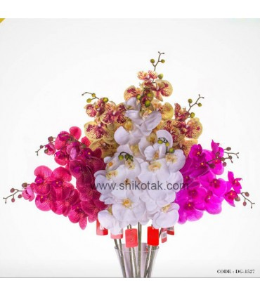 گل مصنوعی ارکیده کاتلیا ساقه کوتاه