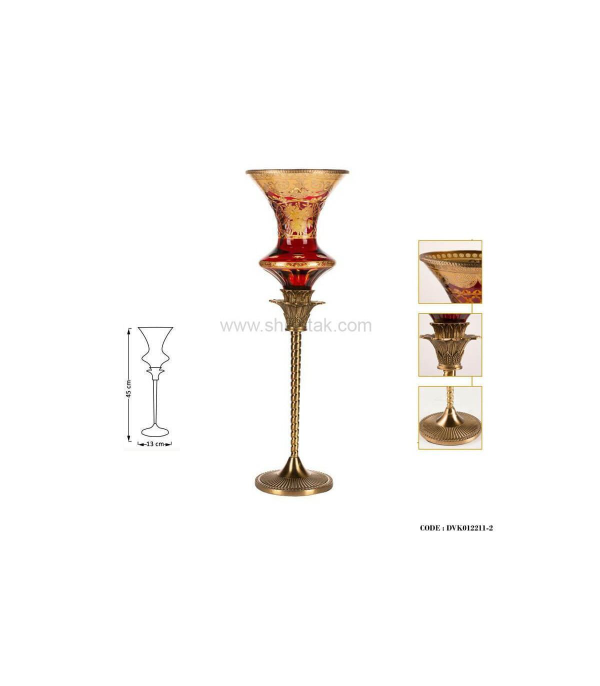 شمعدان سلطنتی بلند پایه برنز سری110