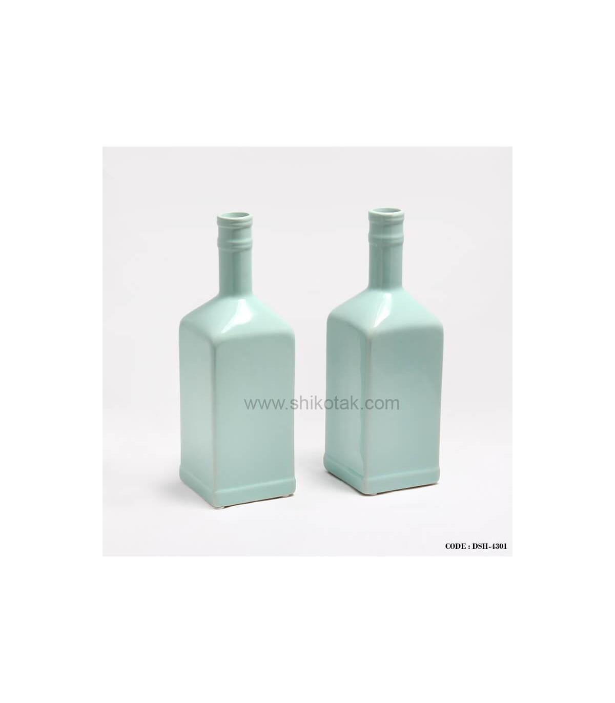 مدل گلدان طرح بطری فیروزه ای