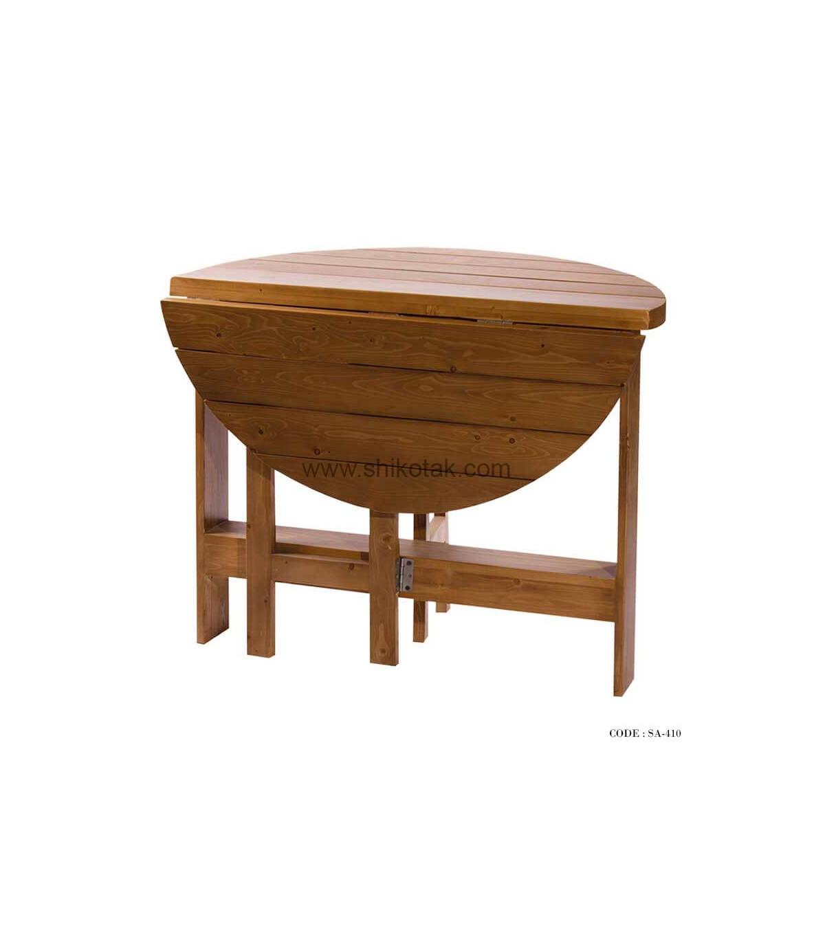 میز ناهار خوری تاشو چوبی سری 410