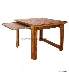 میز ناهار خوری کشو دار چوبی کوتاه سری 413C
