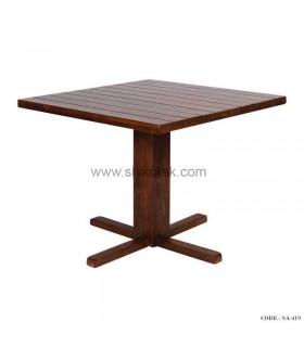 میز ناهار خوری مربع چوبی سری 419