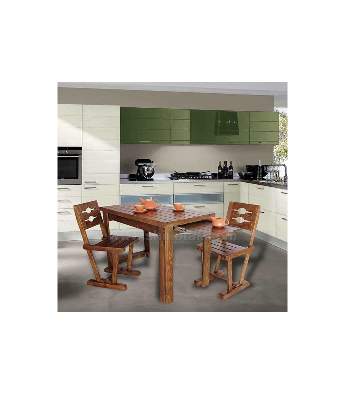 جدیدترین مدل میز ناهار خوری کشو دار چوبی بلند سری 414D