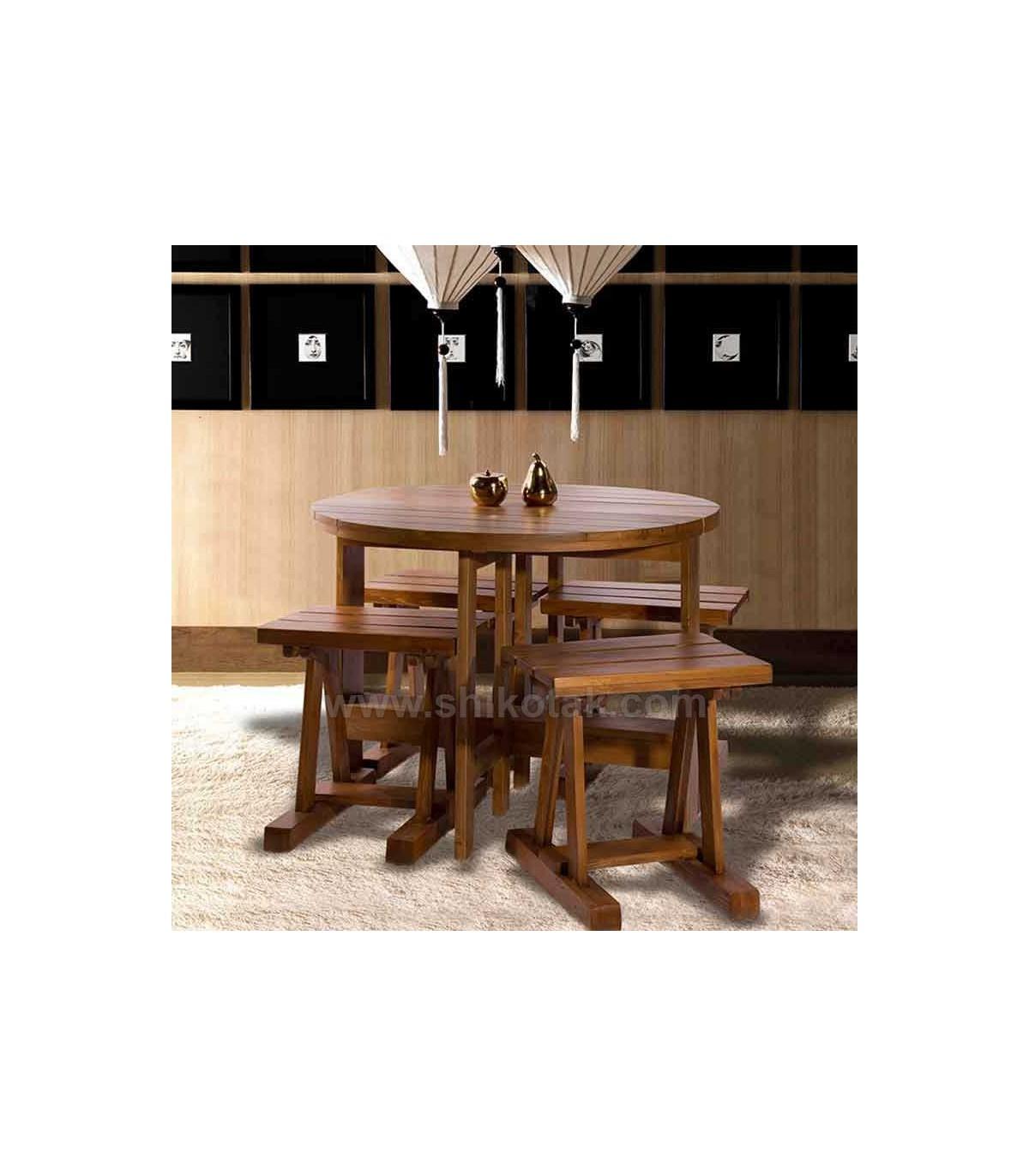 میز غذا خوری تاشو چوبی سری 410