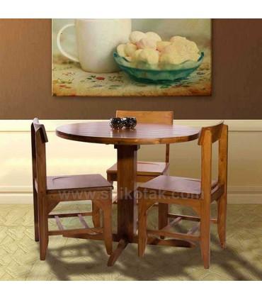 مدل میز ناهار خوری گرد چوبی سری 418