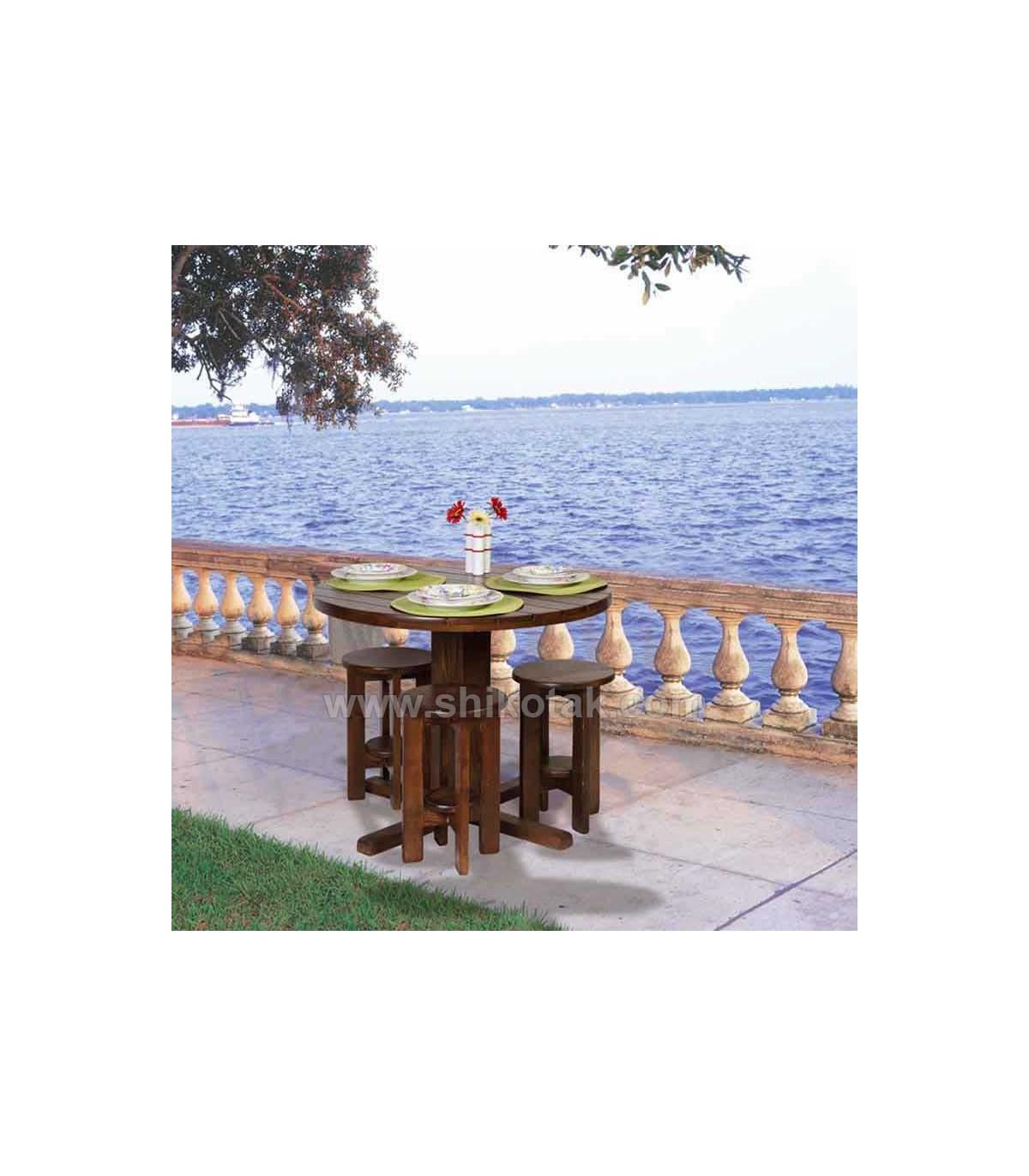 مدل جدید میز ناهار خوری گرد چوبی سری 418