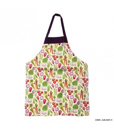 پیش بند  آشپزخانه طرح سبزیجات