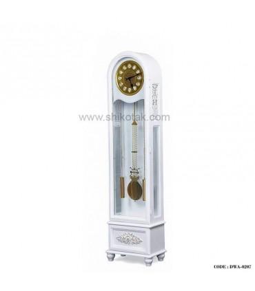 ساعت ایستاده چوبی سفید سری 0207