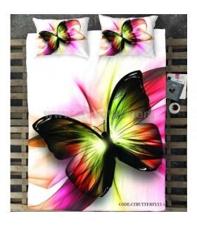 روتختی یک نفره دخترانه طرح پروانه سه بعدی