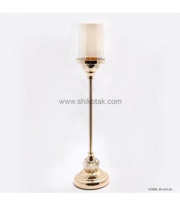 جا شمعی پایه بلند طلایی