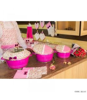 سرویس کامل آشپزخانه پارچه ای عروس سری163