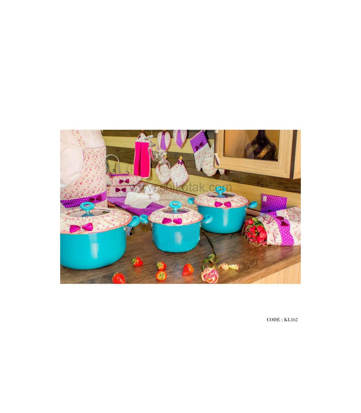 سرویس آشپزخانه پارچه ای عروس سری162