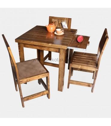 مدل میز ناهار خوری کشو دار چوبی کوتاه سری 413C