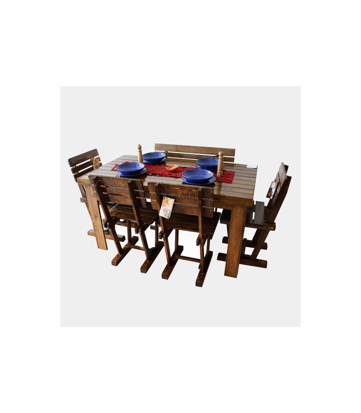 میز ناهار خوری چوبی کشو دار بلند سری 414D