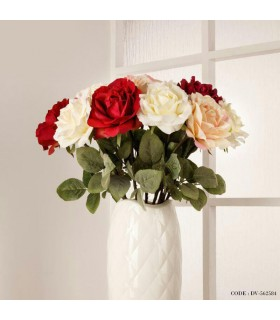 گل مصنوعی رز ساقه بلند
