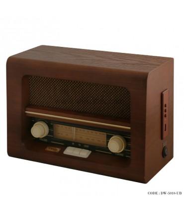 رادیو فلش خور طرح قدیمی مدل برنارد قهوه ای