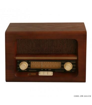 مدل رادیو فلش خور طرح قدیمی مدل برنارد قهوه ای