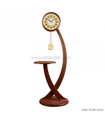 خرید آسان ساعت ایستاده مدرن سری 126 فلورقهوه ای