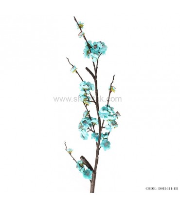شاخه گل مصنوعی شکوفه آبی